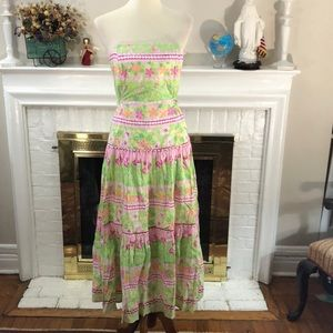 🌻 Lilly Pulitzer floral dress size 10